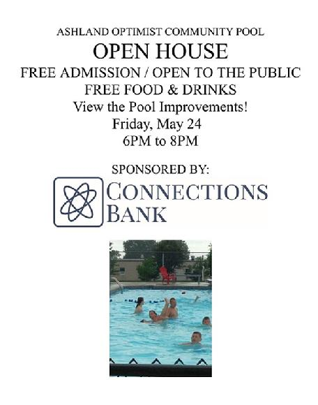 2019 pool open house flyer
